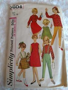 3358 Simplicity 2007 Vintage Children\u2019s Sewing Pattern size XXS-L UNCUT