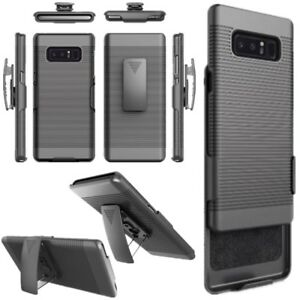 Rugged-Armor-Hybrid-Impact-Case-Belt-Clip-Holster-Stand-Hard-Cover-For-Samsung