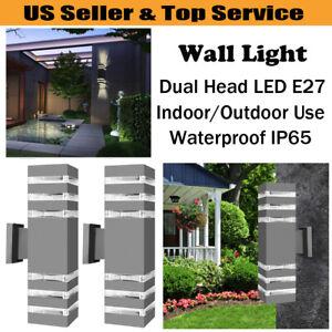 Outdoor-Indoor-LED-Wall-Light-Fixtures-Up-Down-Cuboid-Waterproof-Sconce-Lamp