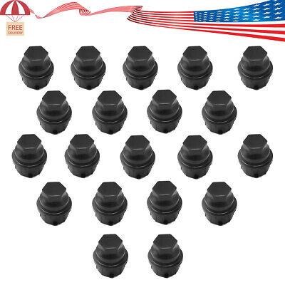 Replaces GM 9593028//9593228 Wheel Lug Nut Cap DPAccessories CC-3B-P-OBK05020 20 New Black Plastic Wheel Lug Nut Caps