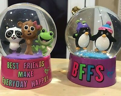 "JUSTICE /""BEST FRIENDS MAKE EVERYDAY HAPPY!/"" SNOWGLOBE BFFS WOW SUPER CUTE!!"