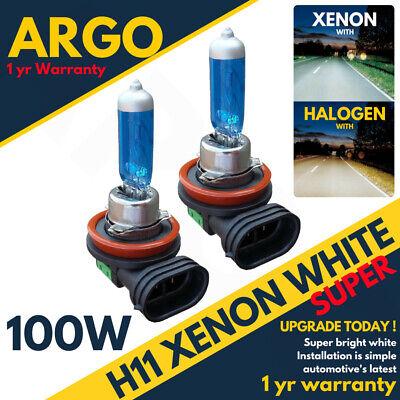 Super White Xenon HID Effect Headlight Fog Light Bulbs 8500k 12v H11 100w 711