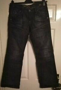 Men-039-s-G-Star-Raw-Jeans-29W-32L-96-GS-3301-Blue-Distressed-Design