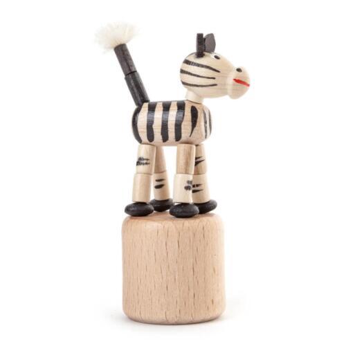 Wackeltier Zebra Drückefigur Push Puppets NEU Erzgebirge Seiffen Wackelfigur