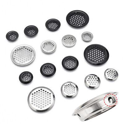 10Pcs Metal Round Louver Ventilation Grille Air Vent 3mm Mesh Hole 19//25//35//53mm