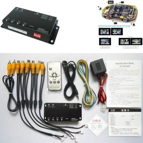 Image Split Front//Rear//Left//Right Parking 360° Full View Control Box Monitoring