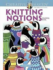 Adult Coloring: Creative Haven Knitting Notions Coloring Book by Jessica Mazurkiewicz (2017, Paperback)