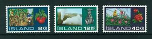 Iceland-1972-Greenhouses-full-set-of-stamps-MNH-Sg-496-498