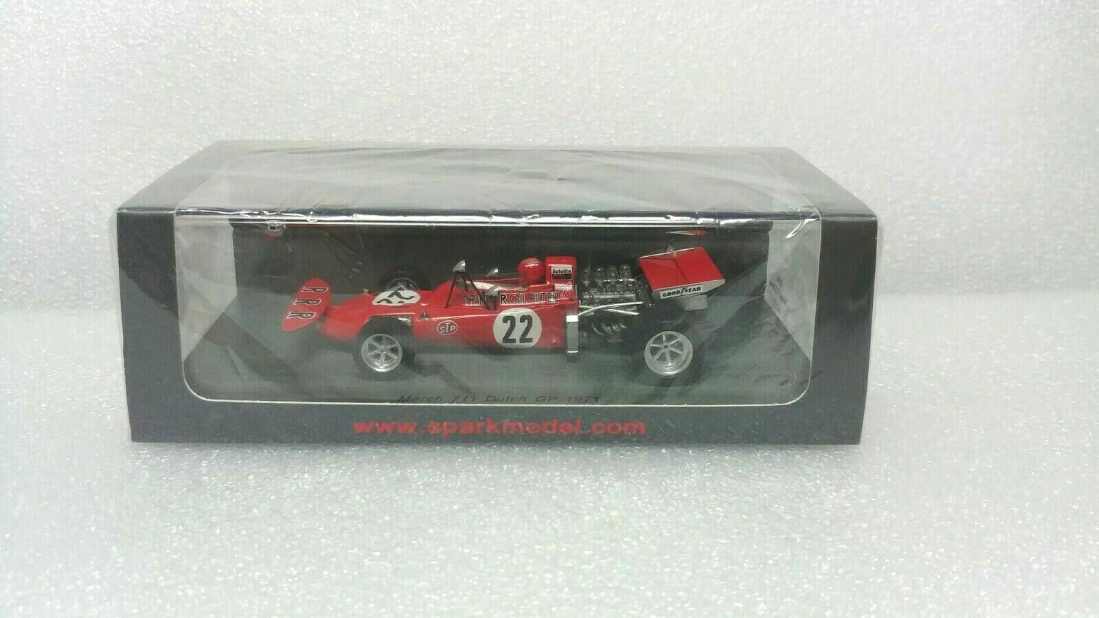 March 711 No.22 Dutch GP 1971 Skip Barber SPARK MODEL 1 43  S5361
