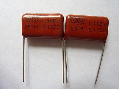 200PCS CL21 105J 400V 1UF 1000NF P20 Metallized Film Capacitor