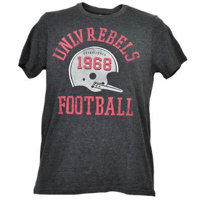 Offen Ncaa Unlv Nevada Las Vegas Rebellen Helm Fußball T-shirt Herren Kurzarm Bequem Und Einfach Zu Tragen Fanartikel