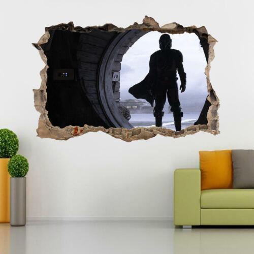 The Mandalorian Star Wars 3D Smashed Wall Sticker Decal Art Mural J1430