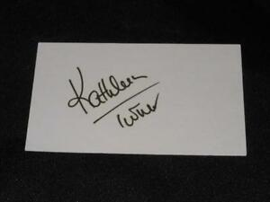 Body-Heat-Actress-Kathleen-Turner-Signed-Autograph-Vintage-3x5-Index-Card-EC13