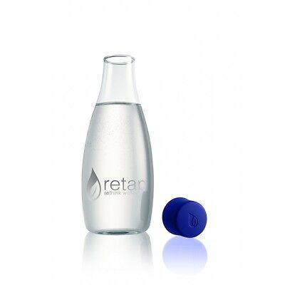 Glass Retap Water Drinks Bottle  800ml 'Dark Blue / Indigo