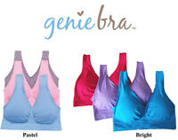 Genie Bra In Pastel Or Bright Colors - Pink, Blue, Purple - S M L Xl 2xl