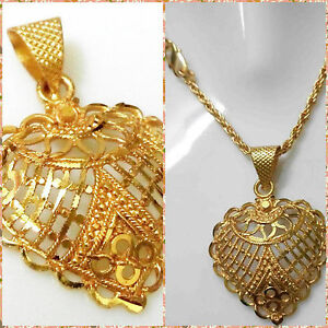 22k 24k yellow indian gold plated rope chain 2mm pendant women image is loading 22k 24k yellow indian gold plated rope chain mozeypictures Gallery