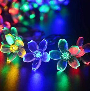 Agooding-Multicolour-Solar-Flower-Fairy-String-Lights-50-LED-23FT