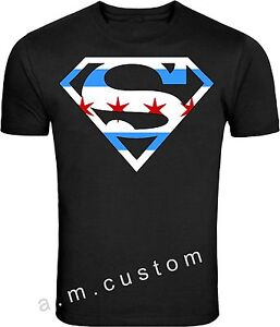 Chicago Superman Logo Windy City Skyline City Of Chicago Flag T