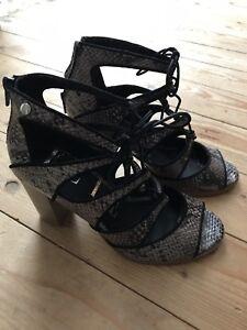 Elle 6 Neuf Uk Ladies Shoes Taille Snakeskin xgaCOqP
