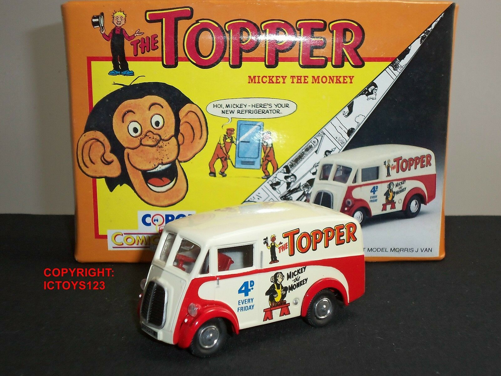 CORGI 96887 TOPPER COMIC ANNUAL MORRIS J DIECAST MODEL DELIVERY VAN