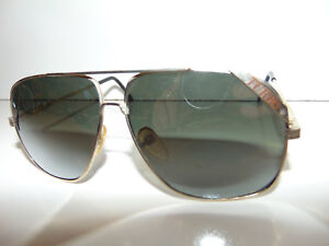 Retro-80-039-s-Turbo-Aviator-Sunglasses-Classic-Vintage-Glasses-For-Men-SILVER-RARE