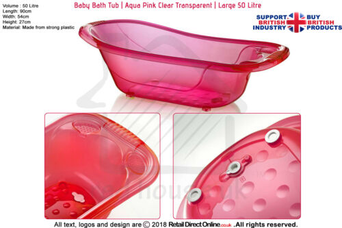 Baby Bath Tub Kids Infant Shower Bath TubHot Pink50 L Large Plastic