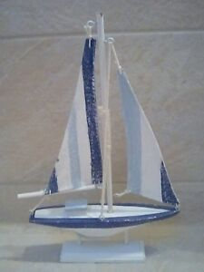 Seaside Nautical Shabby wooden sailing boat ornament NEW | eBay on steps for boats, solar panels for boats, upholstery for boats, bedding for boats, grab rails for boats, grills for boats, wiring for boats, beds for boats, boilers for boats, lighting for boats, windows for boats, furniture for boats, carpet for boats, carports for boats, sinks for boats, sump pumps for boats, toilets for boats, decks for boats, doors for boats, kitchen cabinets for boats,