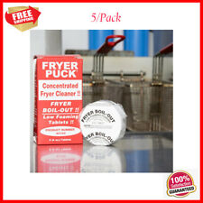 4 Oz Commercial Restaurant Deep Fat Fryer Cleaner Cleaning Tablets 5pack