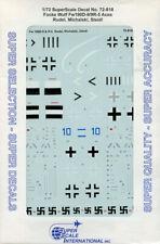 Schnell Microscale Decal 1:72 Scale #72-809 Focke Wulf Fw 190A3//4//7 Aces Bar