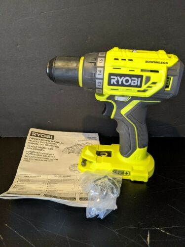 "BrushLess 1//2/"" Drill-Driver RYOBI P252 18V Li-Ion ONE w// LED Light"