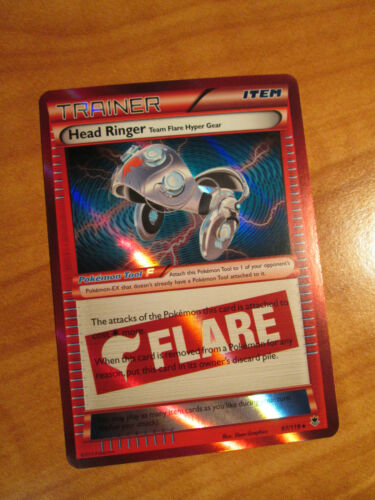 NM Pokemon HEAD RINGER Card PHANTOM FORCES Set 97/119 XY Trainer Item Team Flare