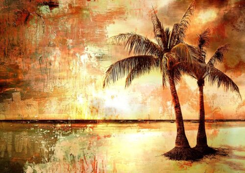 200cm by 100cm Palm Tree Sunset Painting  art contemporary island australia