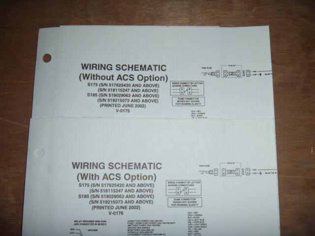 Bobcat S175 S185 Skid Steer Electrical Wiring Diagram