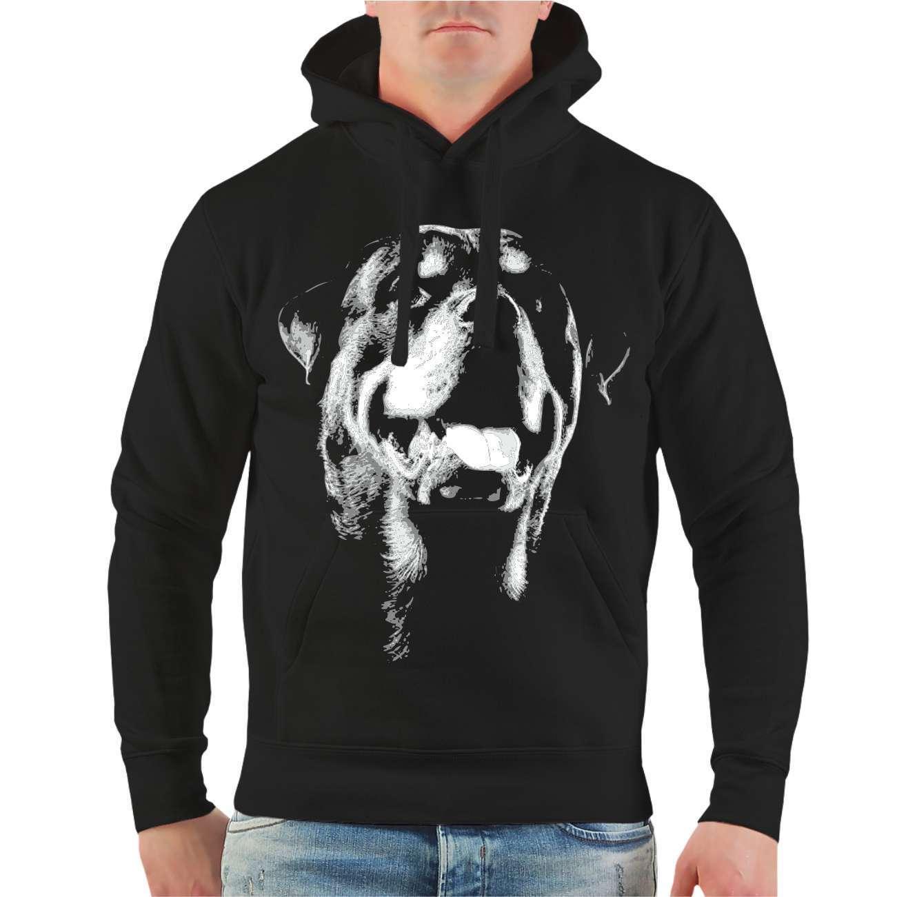 Kapuzenpullover Sweatshirt Hoodie Rottweiler BOSS hunde dogs rasse welpen zucht