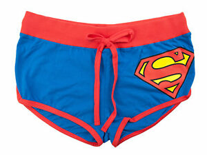 Superman Tie blu Juniors bottino da Pantaloncini Front qtAwX6X