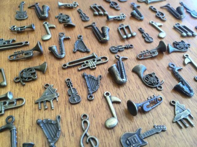 5-80 Bronze Music Charms for Scrapbooking & Cardmaking