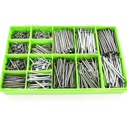 2.5kg ASSORTED NAILS ANNULAR RING BRIGHT OVAL CLOUT LOST HEAD FLOOR KIT 850