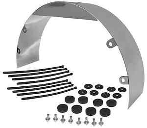 "3/"" WIDE 20/"" DIAMETER CHROME STEEL COOLING FAN SHROUD FOR CHEVY FORD MOPAR"