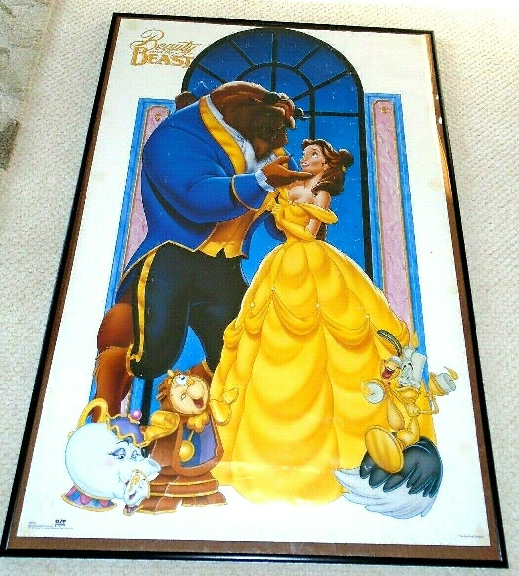 1990s Vintage Beauty and The Beast Poster by OSP Publishing 1991 22 x 30