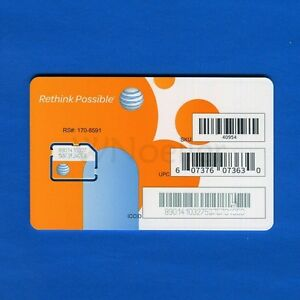 NEW-Genuine-AT-amp-T-Micro-Sim-Card-supports-4G-LTE-Prepaid-GoPhone-or-Contract