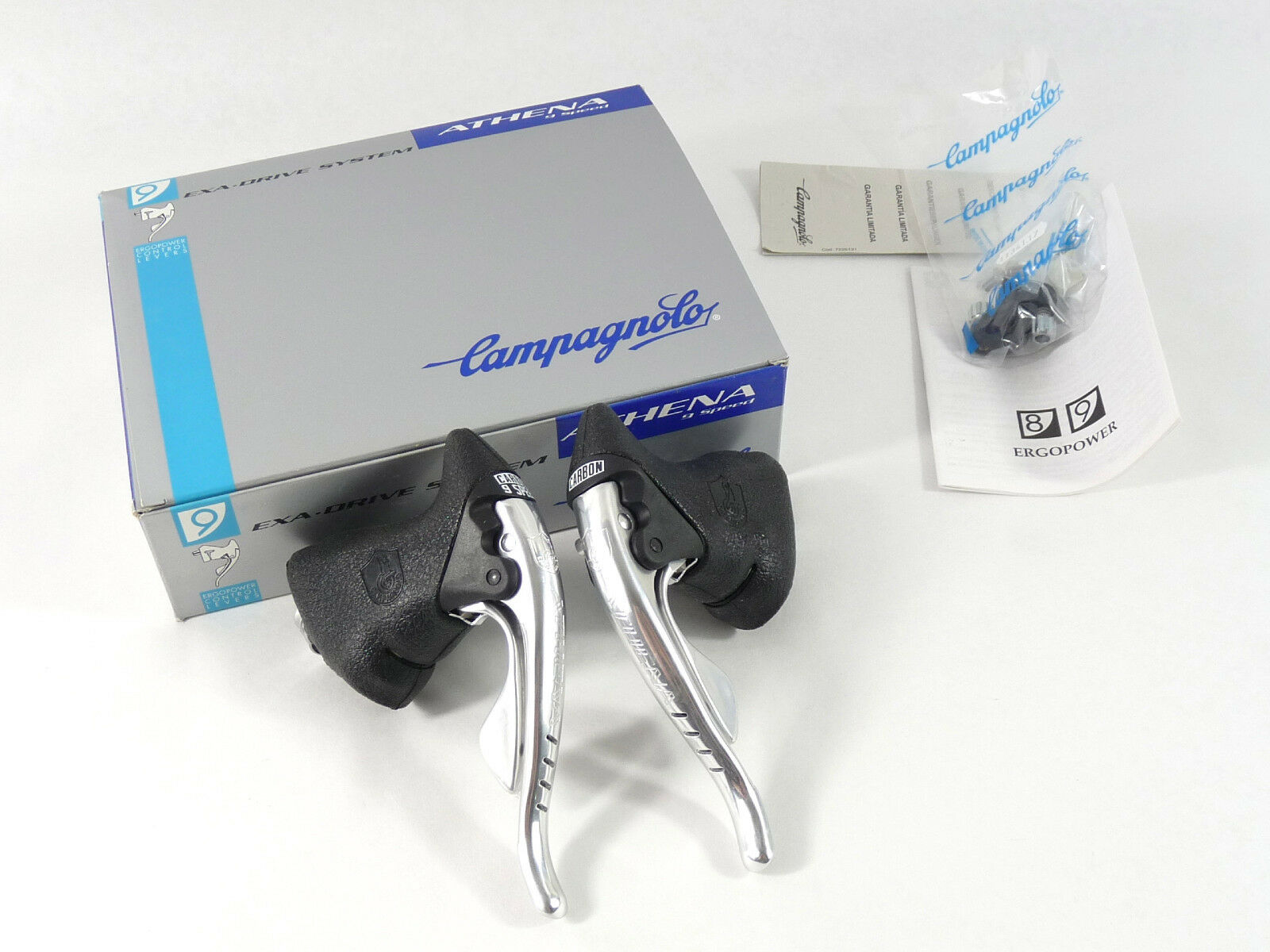 Campagnolo Ergopower Athena 9 Speed Lever Set Alloy Brake & shifter Vintage NOS