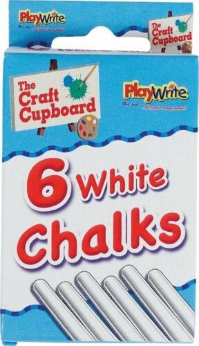 6 packs de blanc craies Butin//Fête Sac Remplissage Enfants CRAFT Total 36 bâtons