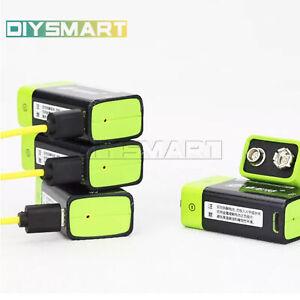 1PCS-ZNTER-S19-9V-400mAh-USB-Rechargeable-9V-Lipo-Battery-For-RC-AU