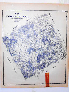 Coryell County Texas Land Office Owner Map Fort Hood