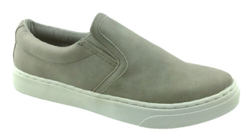 LADIES FAUX LEATHER ALMOND TOE SUMMER CASUAL SNEAKERS GREY SIZE UK 3-9