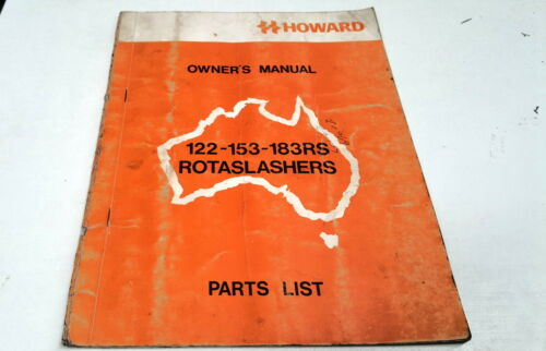 1975 HOWARD ROTASLASHERS Factory Owners Manual & Parts List