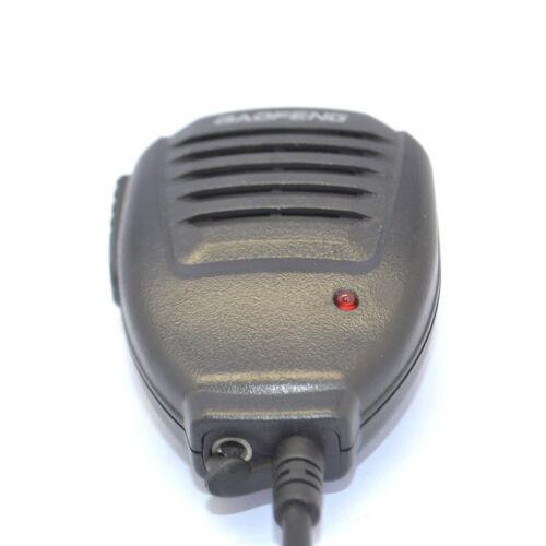 2Pin PTT Handheld Speaker MIC Microphone for Baofeng Kenwood Walkie Talkie Radio