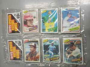 2 Rack Packs 1980 Topps Baseball Sealed