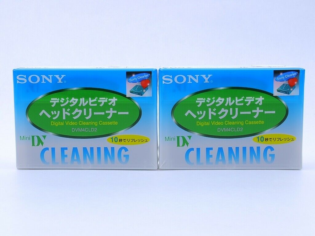 [New Set of 2] Sony DVM4CLD2 mini DV Digital Video Head Cleaning Tape from JAPAN