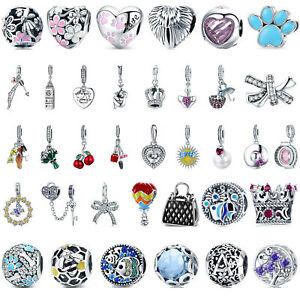 2019-DIY-Fashion-Charm-Beads-925-Sterling-Silver-Drop-Pendant-Fit-Bracelet-Gifts